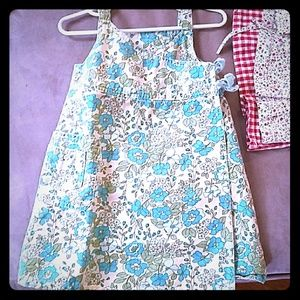springy overall floral dress